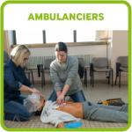 Etudiants bouton ambulanciers IFA