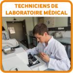 Etudiants bouton techniciens laboratoire medical IFTLM